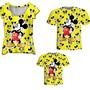 Camisetas-pai-mae-e-filho-mickey-amarelo-varios