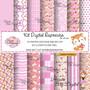 Kit-digital-raposinha-tons-de-rosa-papel-digital