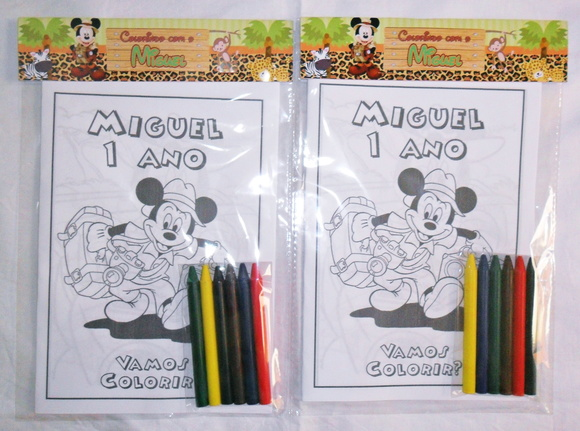 Kit Colorir - Mickey Safari