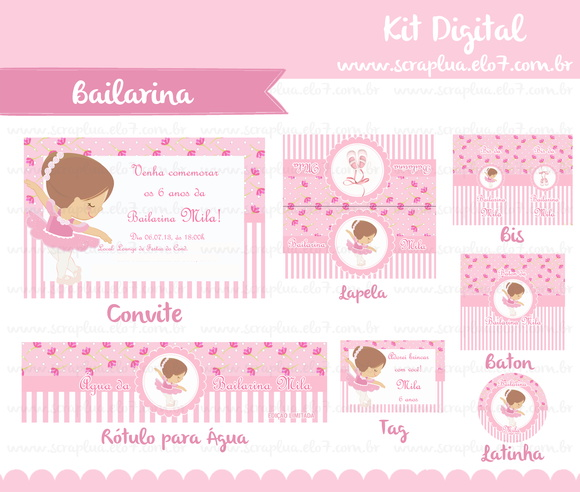 Kit Digital Bailarina