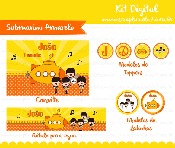 Kit Digital Submarino Amarelo