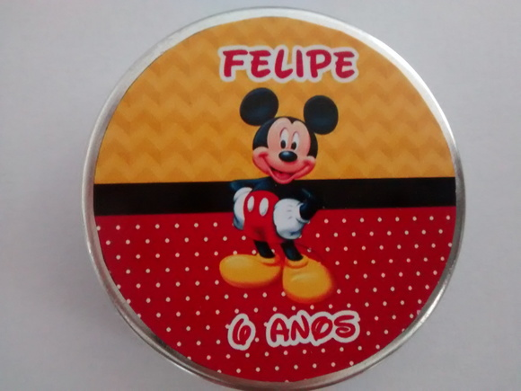 Latinha personalizada do Mickey