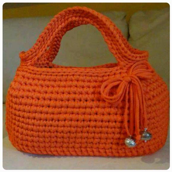 Bolsa De Mão Em Crochet : Bolsa de m?o crochet fio malha ateli? arte do vale
