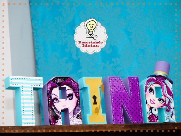 Letras 3d Ever After High