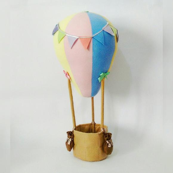 Enfeite De Balão ~ Enfeite de mesa Bal u00e3o de ar quente no Elo7 BluBlu Ateli u00ea (68D4FC)
