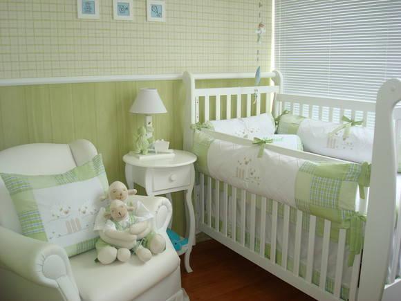 Kits de Berço Verde Carneirinho Atelier do Bebê Elo7