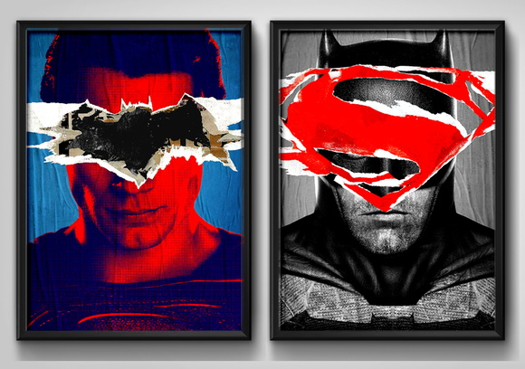 2 Quadros Batman vs Superman Filme