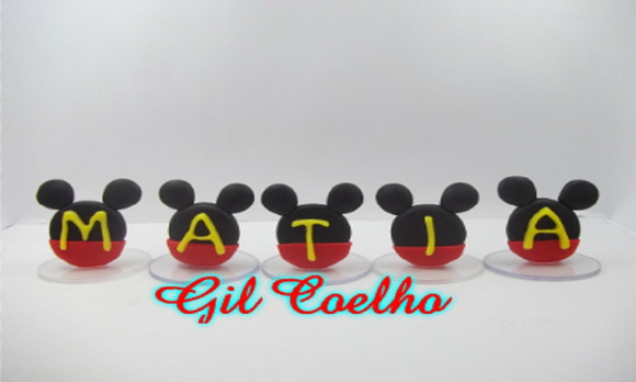 Mini topos letras mickey
