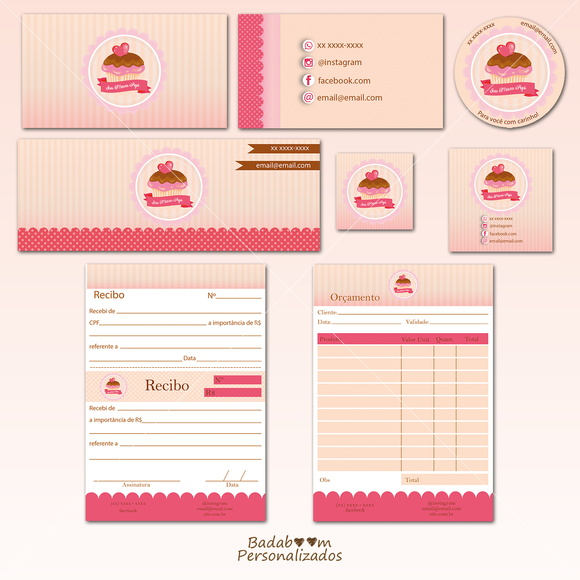 Kit Identidade Visual Cupcake II
