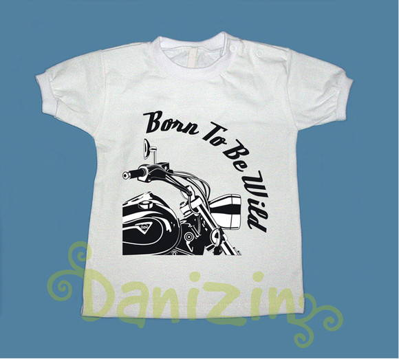 T-Shirt Bebê e Infantil BORN TO BE WILD