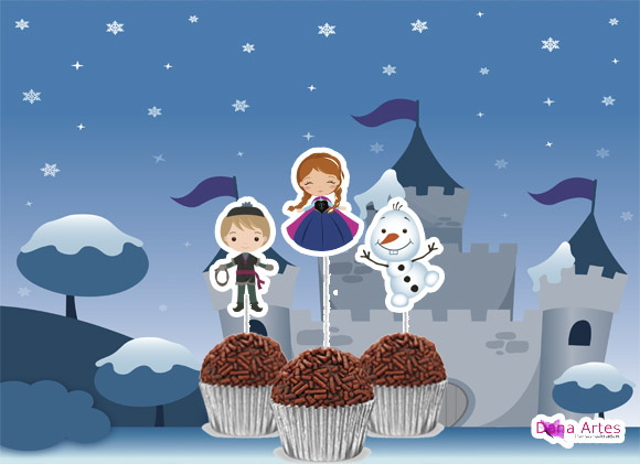 Topper Frozen Cute 1