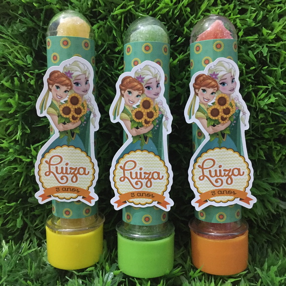Tubete c/ aplique Frozen Fever