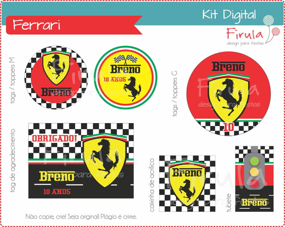 Kit Festa Digital Ferrari