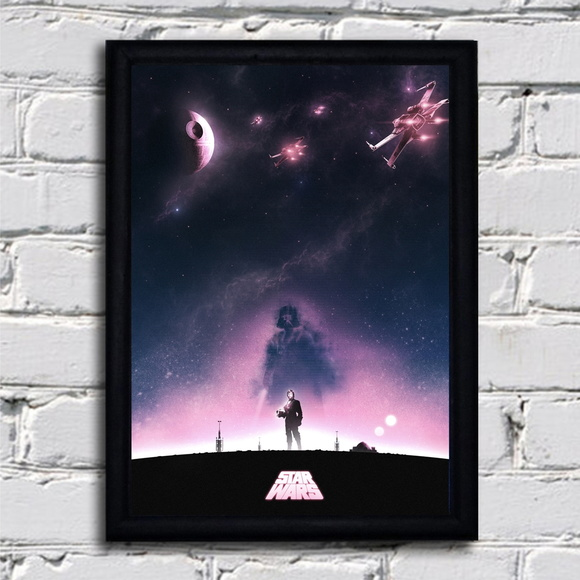 Poster com moldura Star Wars - New Hope