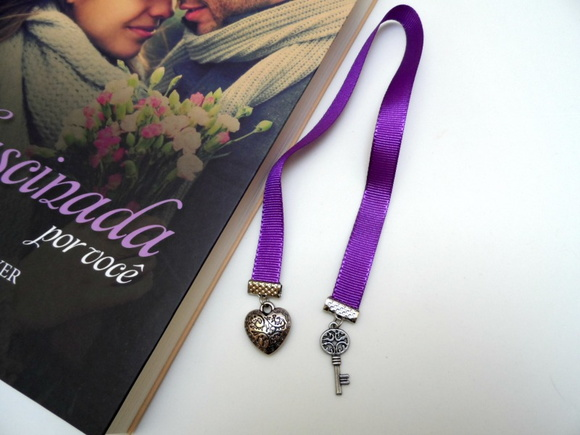 Marcador de livro - heart and key #r