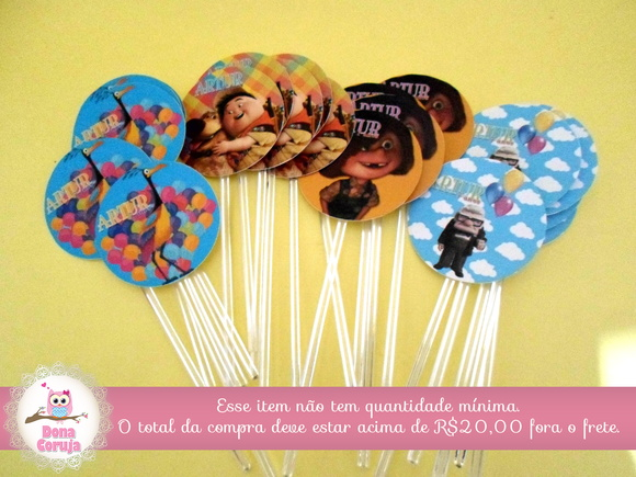 Topper p/ Cupcakes Up AltasAventuras 4x4