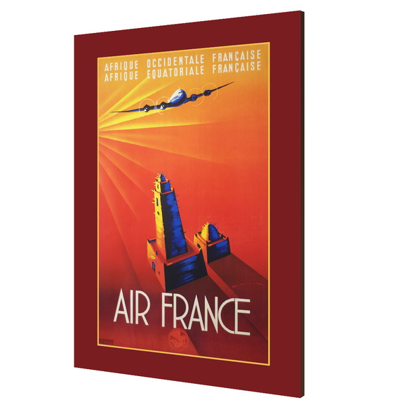 Placa decorativa vintage Air France