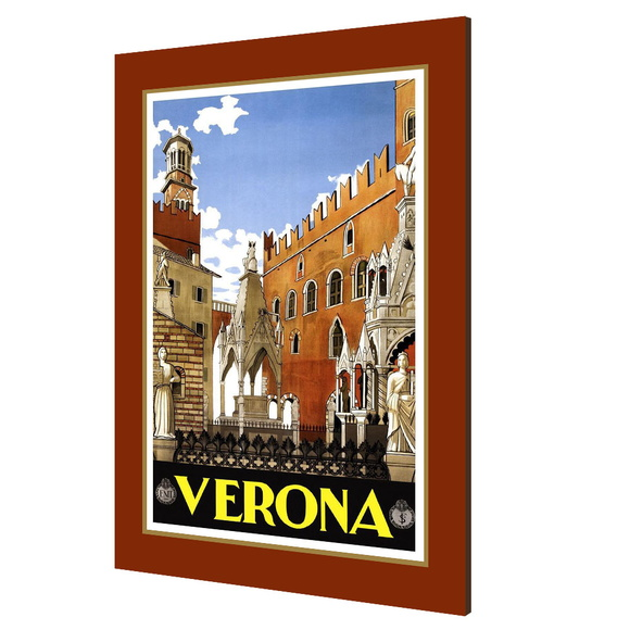 Placa decorativa vintage Verona