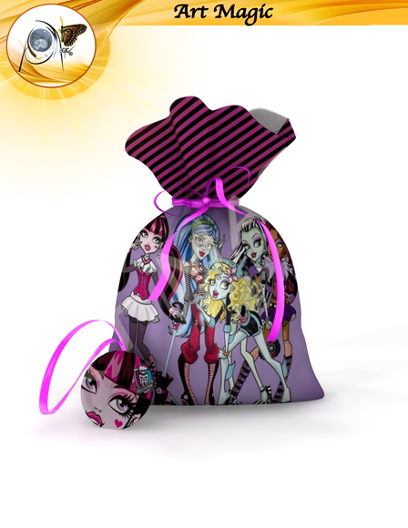 Saquinho surpresa Monster high 3