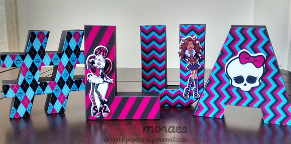 Letra 3D Monster High