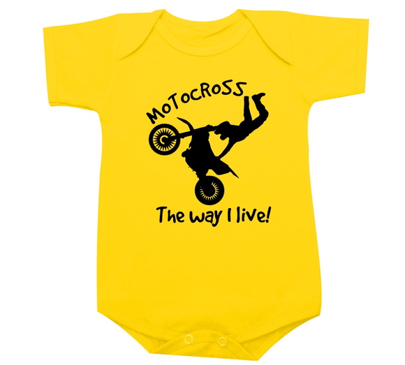 Motocross - The way I live -Body de bebe