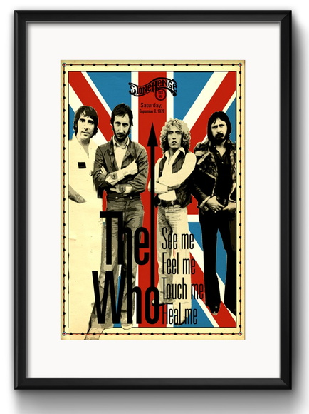 Quadro The Who com Paspatur