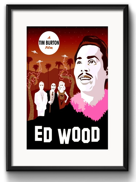 Quadro Ed Wood Tim Burton com Paspatur