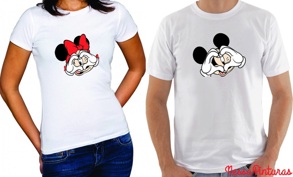 Camiseta Mickey ou Minnie LOVE