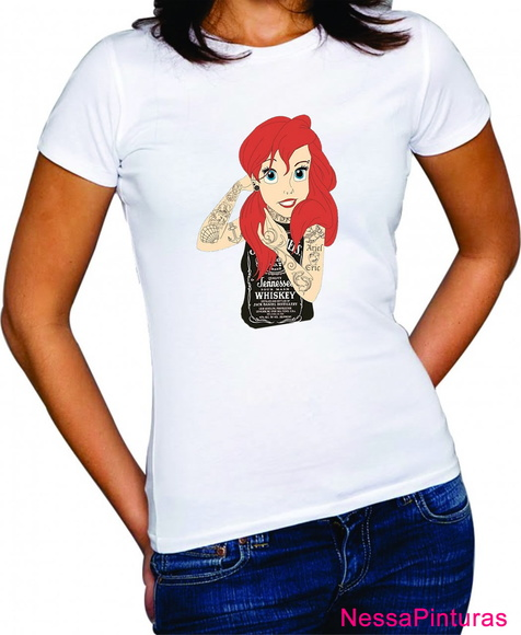 Camiseta Princesa Ariel Tattoo