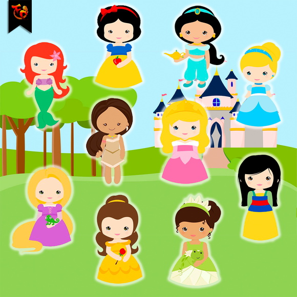 Kit Digital PNG - Princesas
