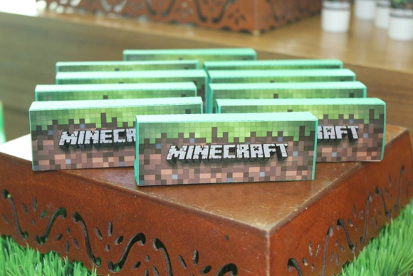 Caixa Chocolate Minecraft