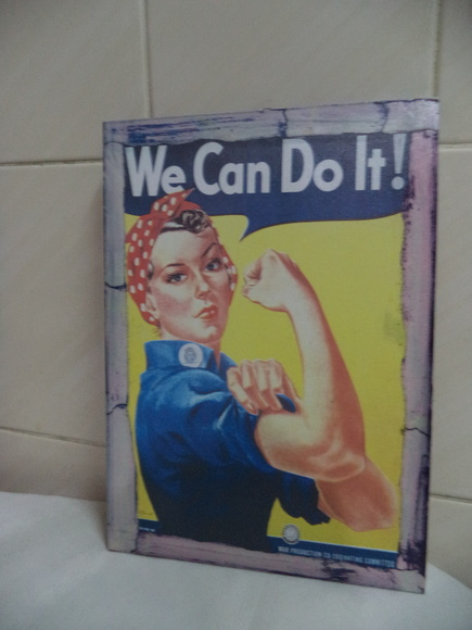 Quadro em MDF - 32x23 Cms - We Can Do It