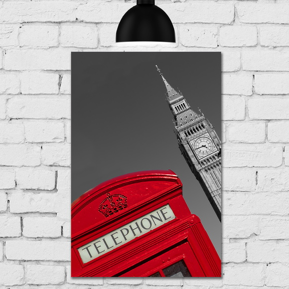 Placa Decorativa MDF Big Ben Londres