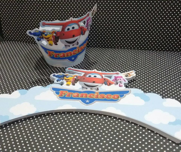 Wrapper para cupcake Super Wings