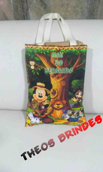 Eco bag 30X40 mickey safari