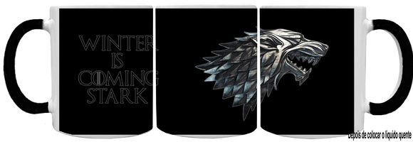 Caneca Mágica Game Of Thrones - Stark