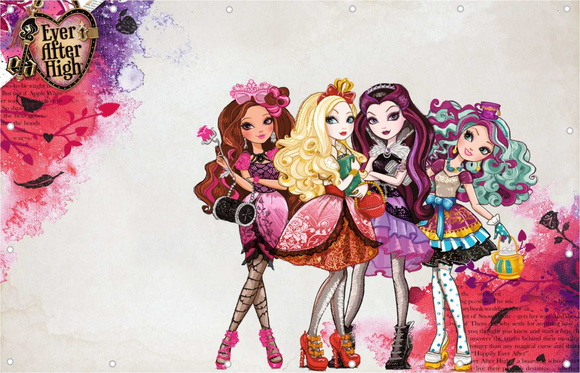 Painel Ever After High Banner Festa
