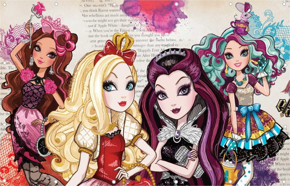 Painel Ever After High Banner festa Ever