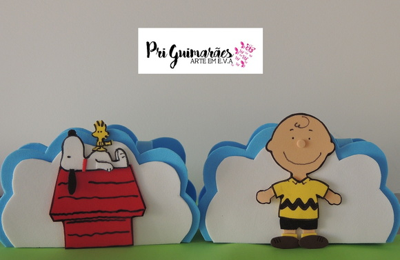Porta guardanapos - Turma do Snoopy