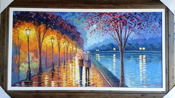 Quadro pintura em tela moderna no elo7 roosevelth - Pinturas de pared modernas ...