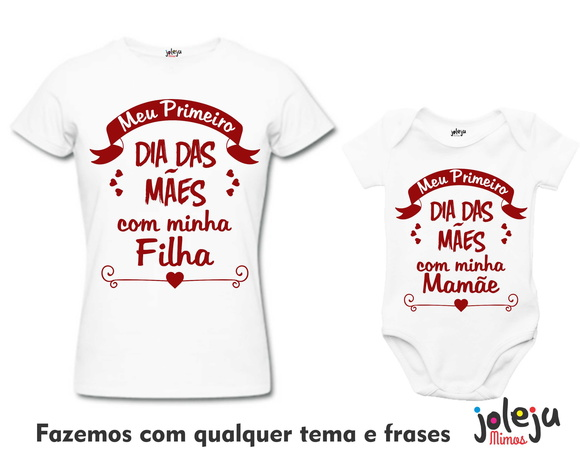 Kit Camiseta e Body Dia das Mães