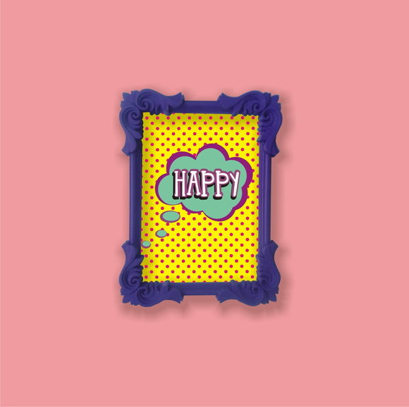Quadro pop art / HAPPY / .20 x .15
