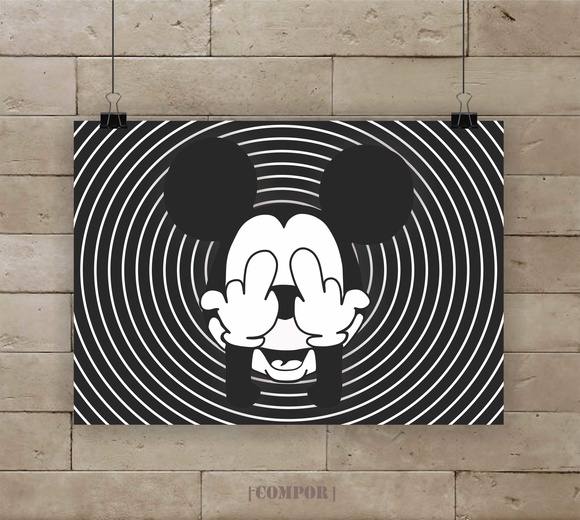 Poster Mickey A4