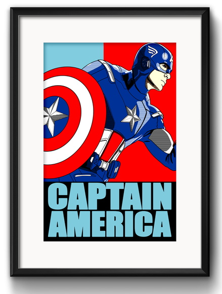 Quadro Capitao America Pop Art Paspatur