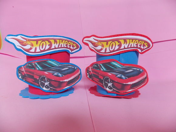 Enfeite mesa Hot Wheels