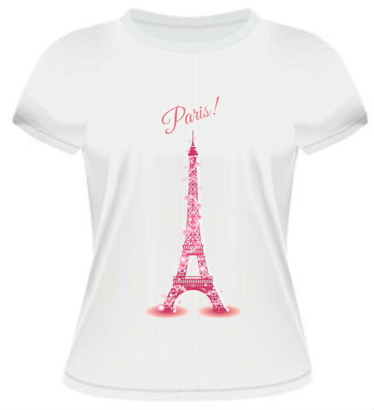 Camiseta/Baby Look Paris