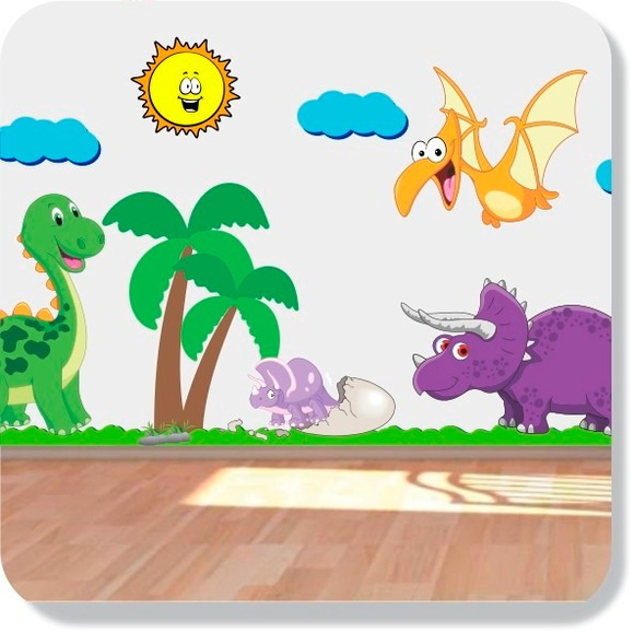 Artesanato Frases ~ Adesivo Quarto Infantil Beb u00ea Dinossauro Mundo do adesivo Elo7