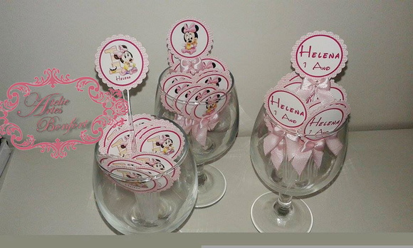 Toppers Minnie baby rosa