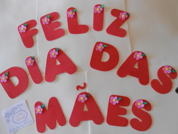 Faixa FELIZ DIA DAS MÃES no Elo7 Petit G u00e2teau Eventos (6AA846) -> Decoração Dia Das Mães Em Loja