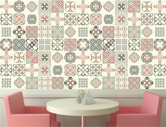 Papel de parede azulejo adesivo 02 quartinhodecorado elo7 - Papel para paredes decorativo ...